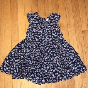 Osh Kosh Dress Navy Flowers Size 5T 5 Girls Daisy